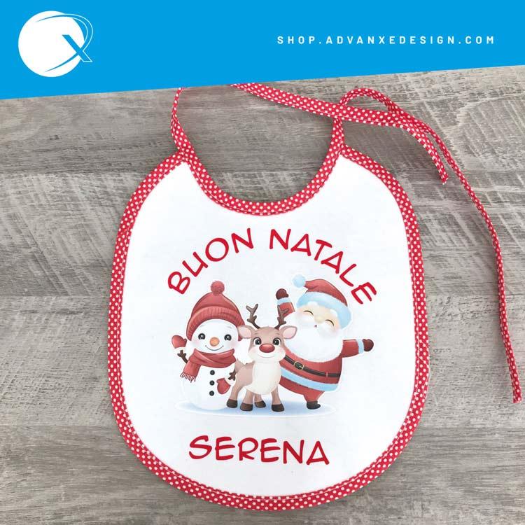Bavaglino Buon Natale personalizzato