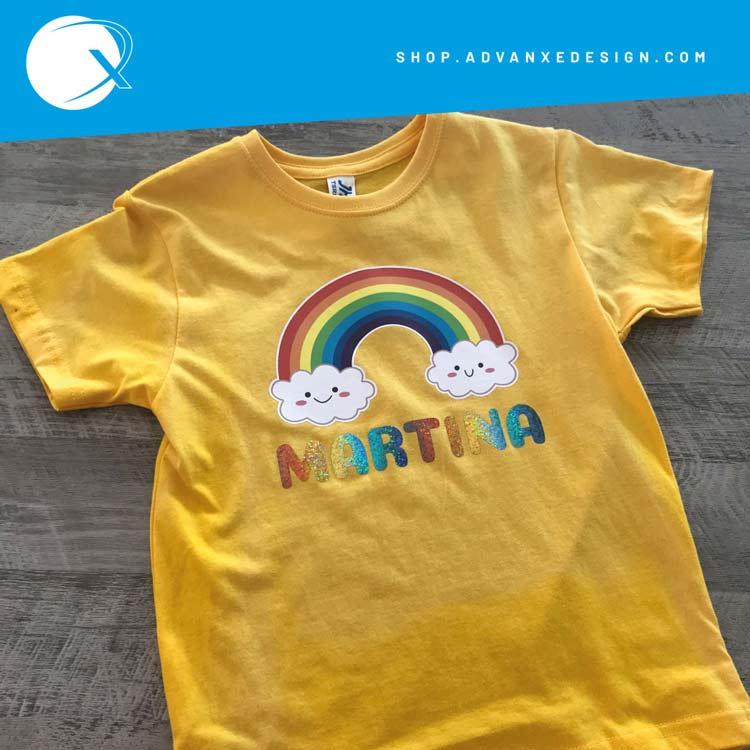 Tshirt Arcobaleno con nome