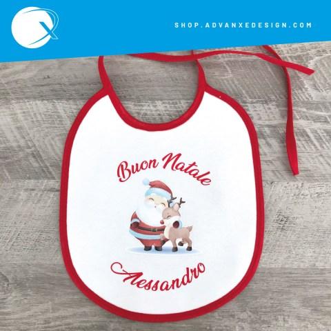 Bavaglino Babbo Natale personalizzato