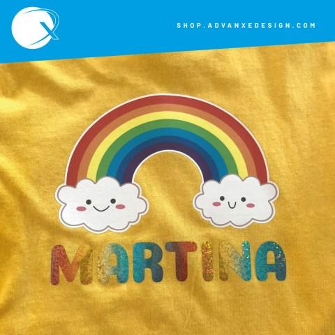 maglietta-arcobaleno-nome