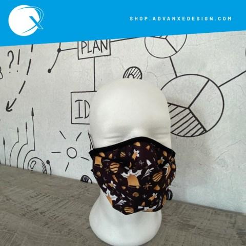 Mascherina personalizzata tema Black & Gold
