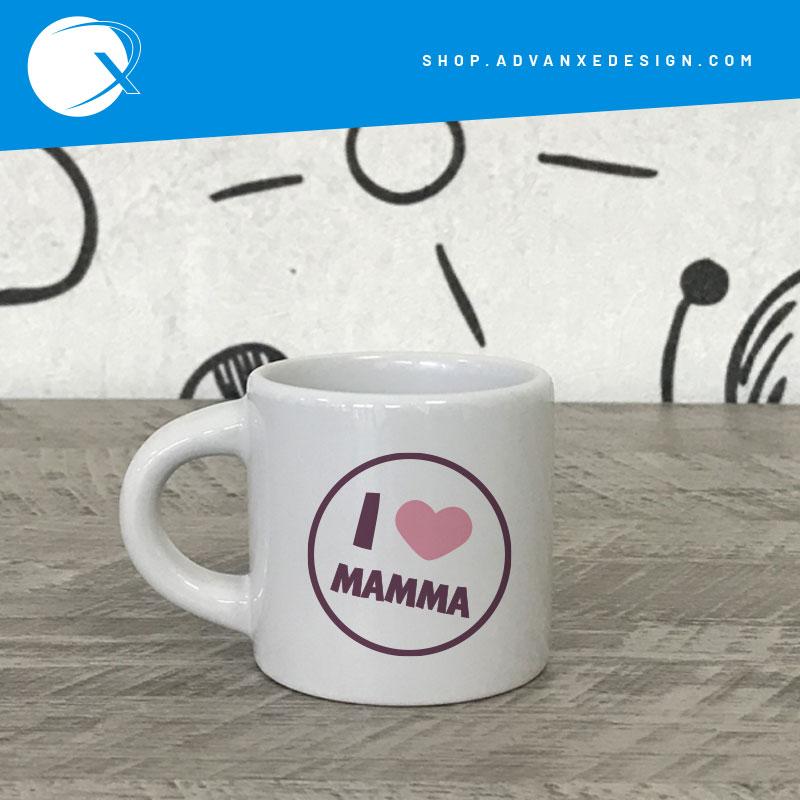 Tazzina personalizzata I Love Mamma - Mug festa della mamma